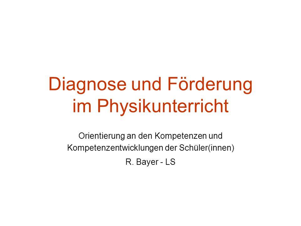 Diagnose und Förderung im Physikunterricht