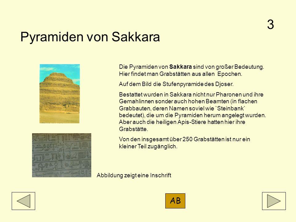 3 Pyramiden von Sakkara AB