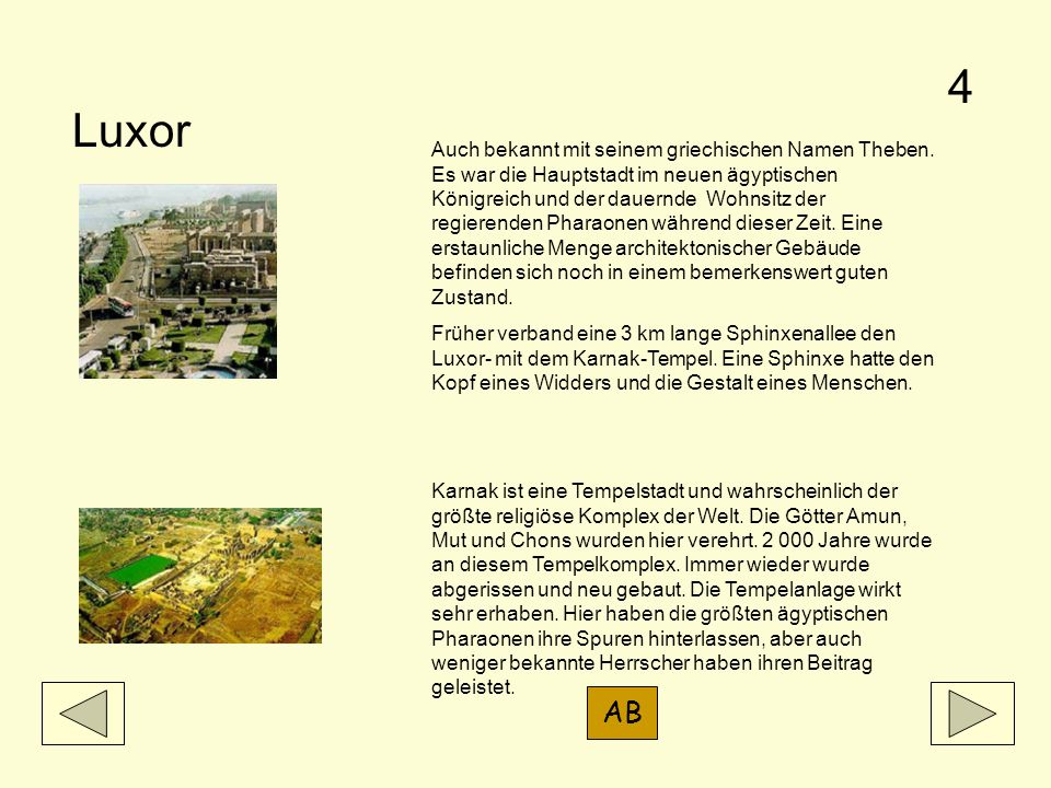 4 Luxor.