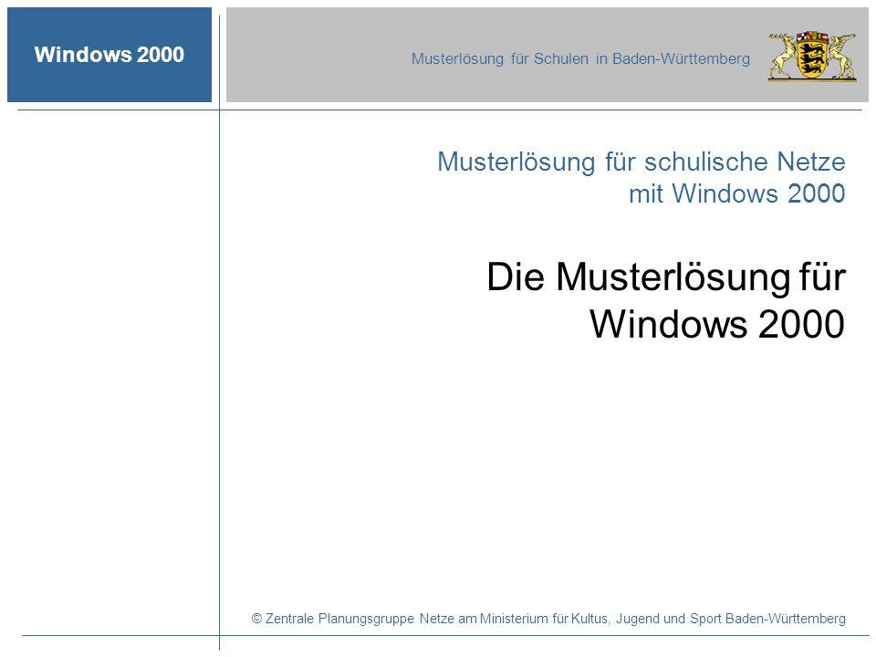 Die Musterlösung für Windows 2000