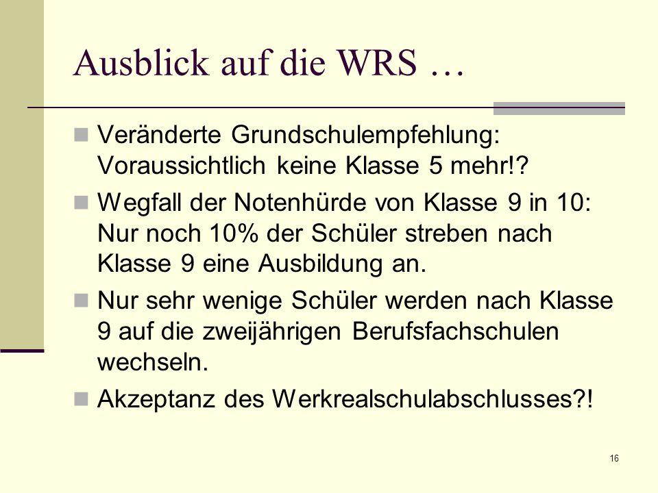 Ausblick auf die WRS … Veränderte Grundschulempfehlung: Voraussichtlich keine Klasse 5 mehr!