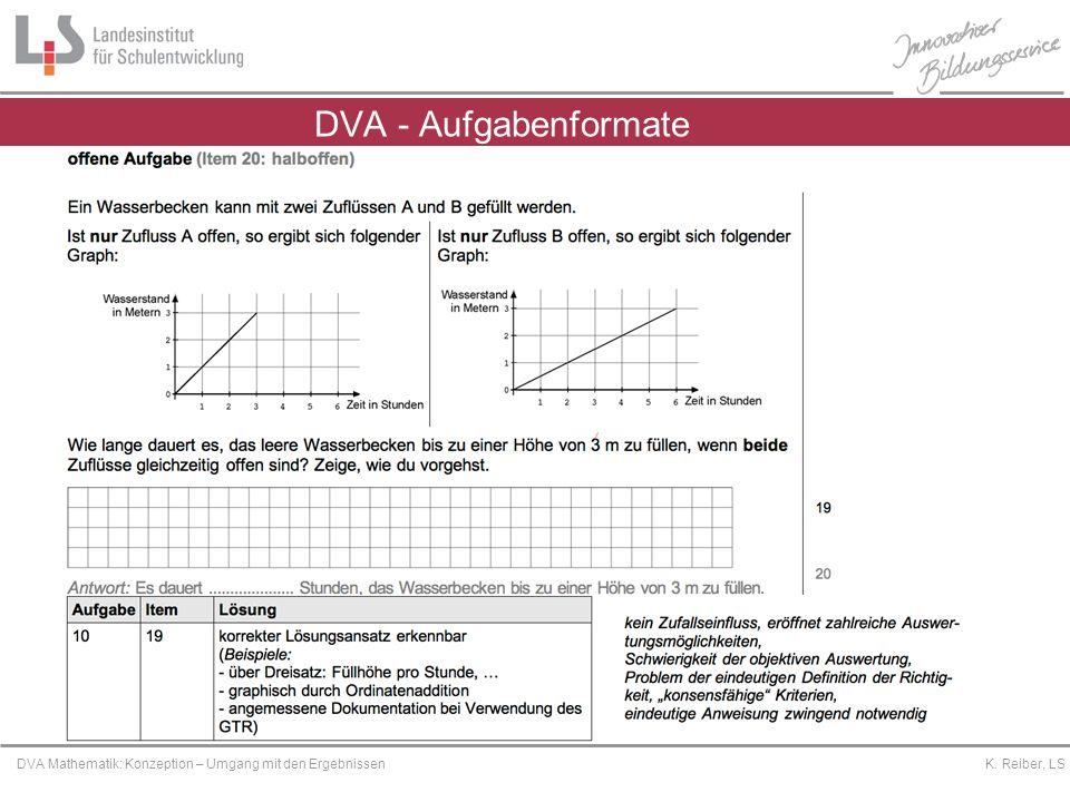 DVA - Aufgabenformate