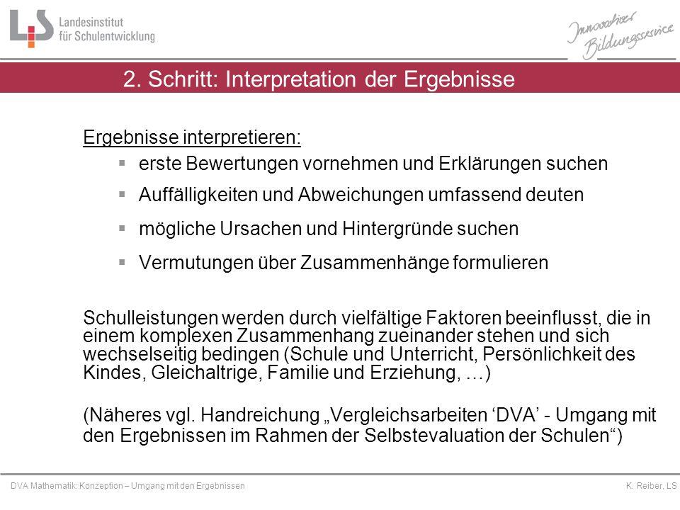 2. Schritt: Interpretation der Ergebnisse