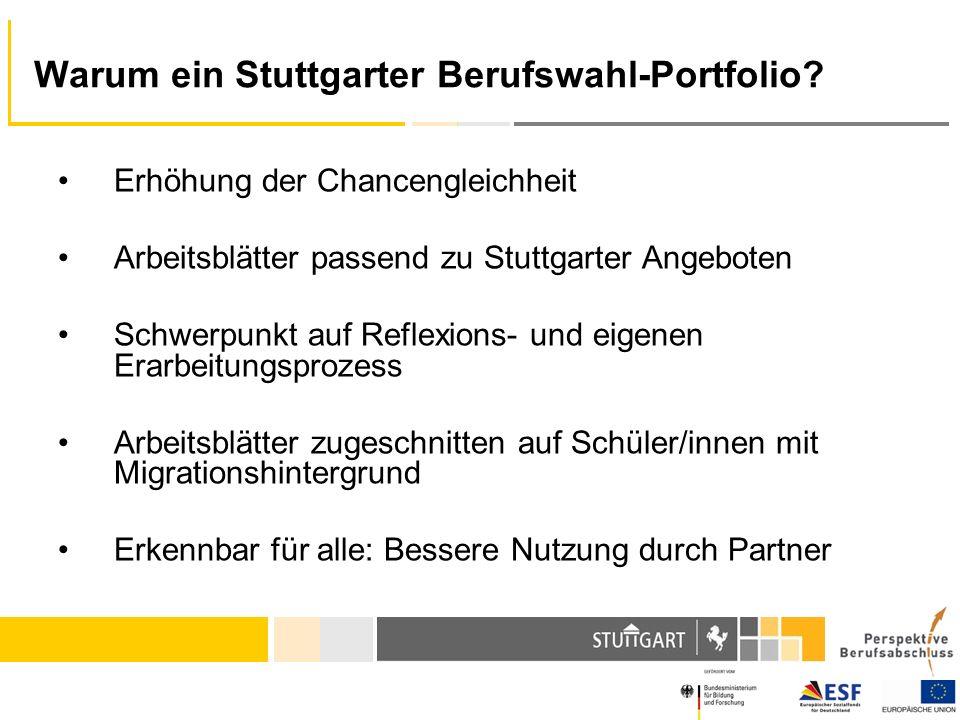 Warum ein Stuttgarter Berufswahl-Portfolio