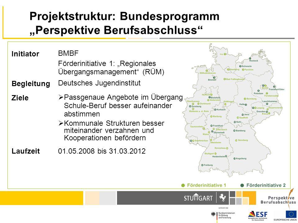 "Projektstruktur: Bundesprogramm ""Perspektive Berufsabschluss"