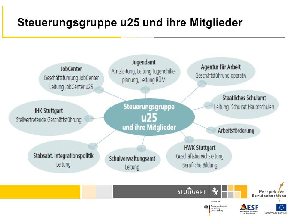 Steuerungsgruppe u25 und ihre Mitglieder