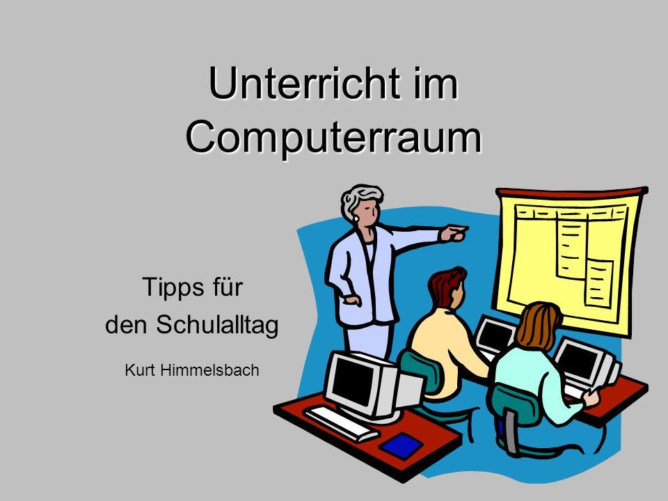 Unterricht im Computerraum