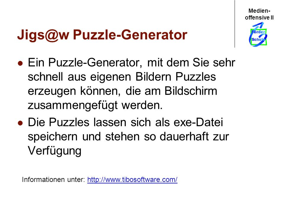 Jigs@w Puzzle-Generator