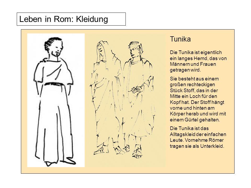 Tunika Die Tunika ist eigentlich ein langes Hemd, das von Männern und Frauen getragen wird.