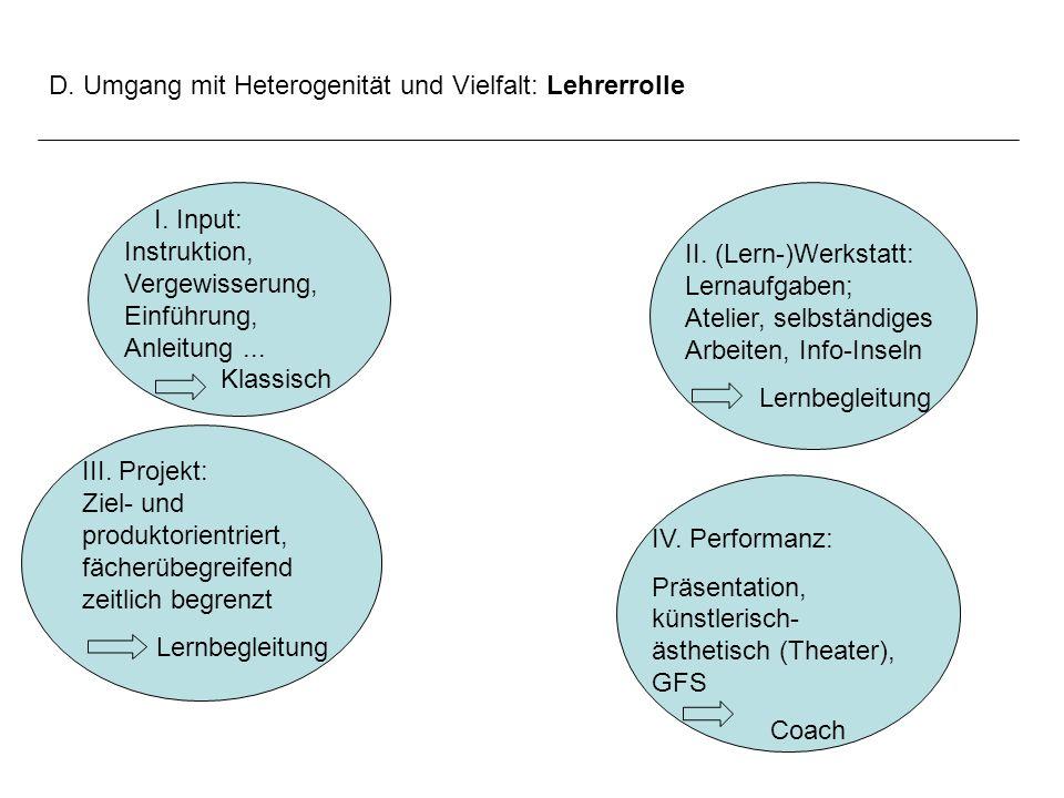 D. Umgang mit Heterogenität und Vielfalt: Lehrerrolle