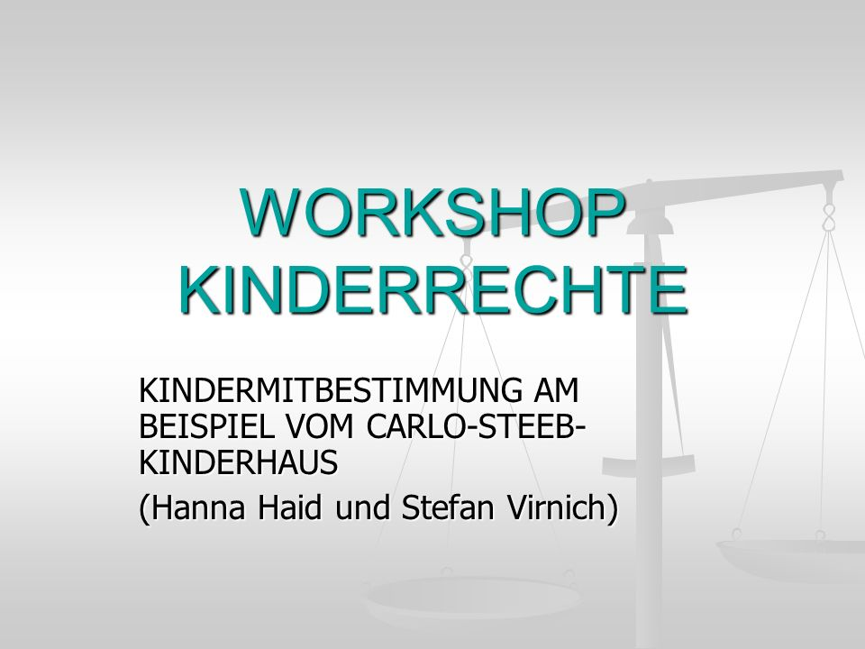 WORKSHOP KINDERRECHTE
