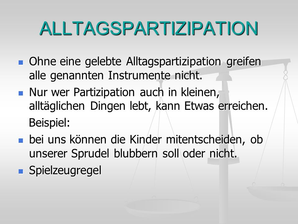 ALLTAGSPARTIZIPATION
