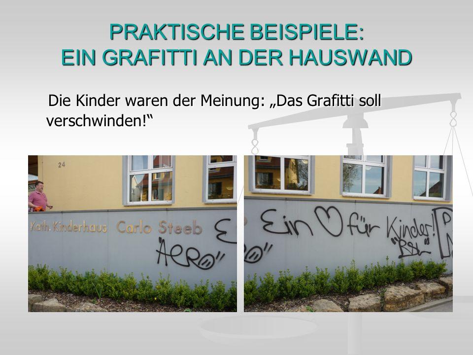 PRAKTISCHE BEISPIELE: EIN GRAFITTI AN DER HAUSWAND
