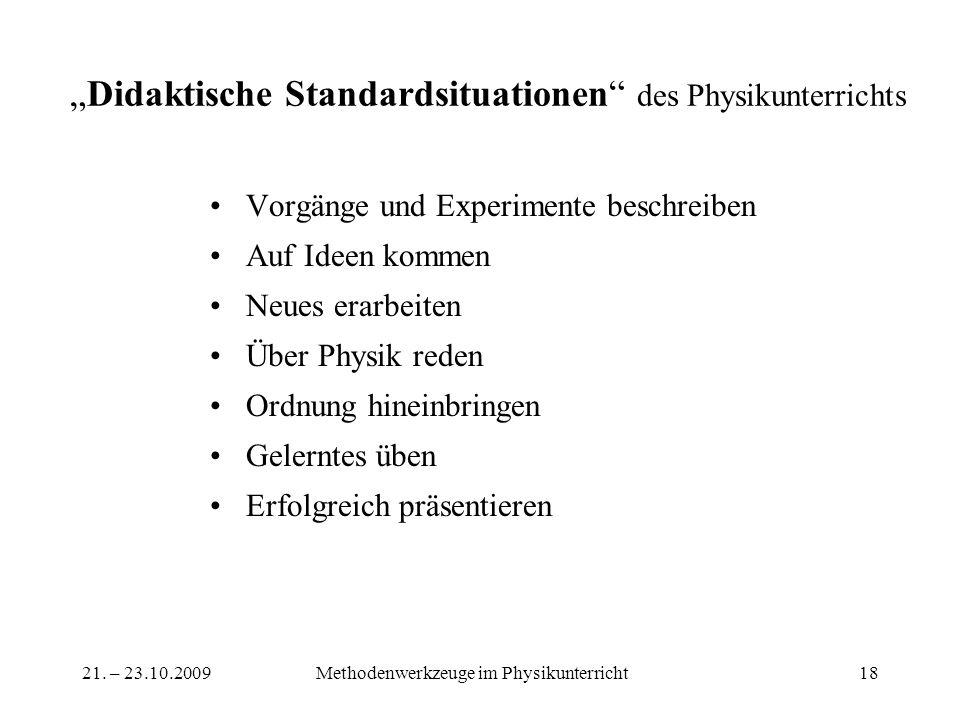 """""""Didaktische Standardsituationen des Physikunterrichts"""