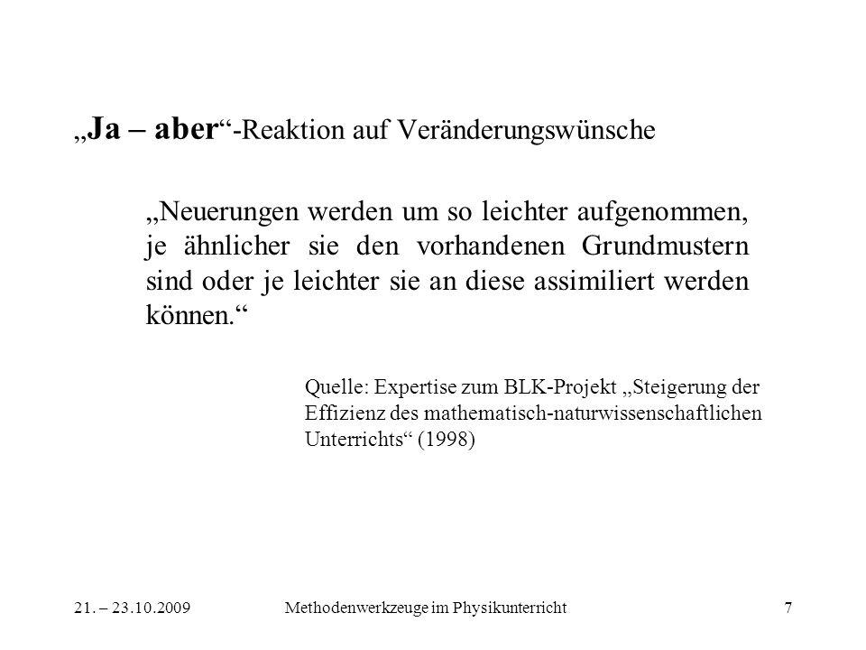 """""""Ja – aber -Reaktion auf Veränderungswünsche"""