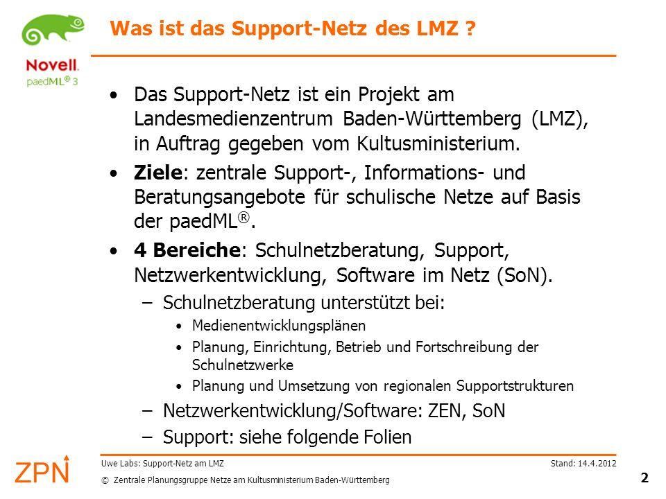 Was ist das Support-Netz des LMZ