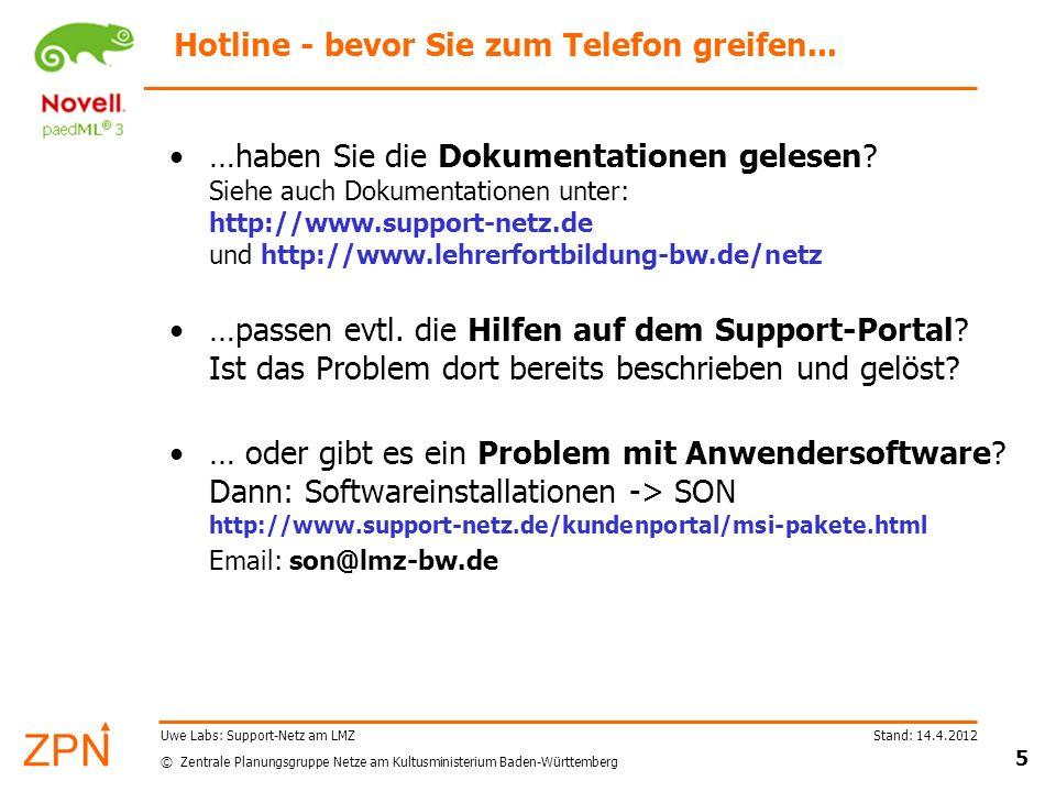 Hotline - bevor Sie zum Telefon greifen...