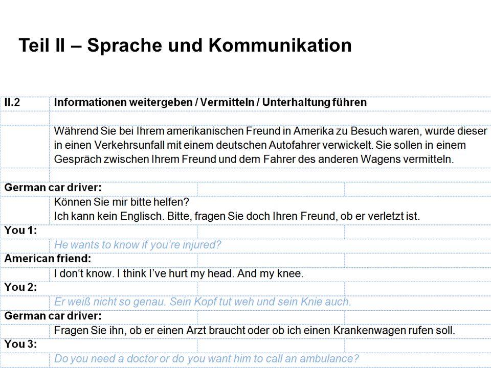 Teil II – Sprache und Kommunikation