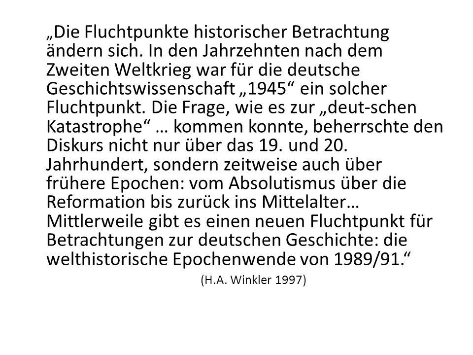 """""""Die Fluchtpunkte historischer Betrachtung ändern sich"""