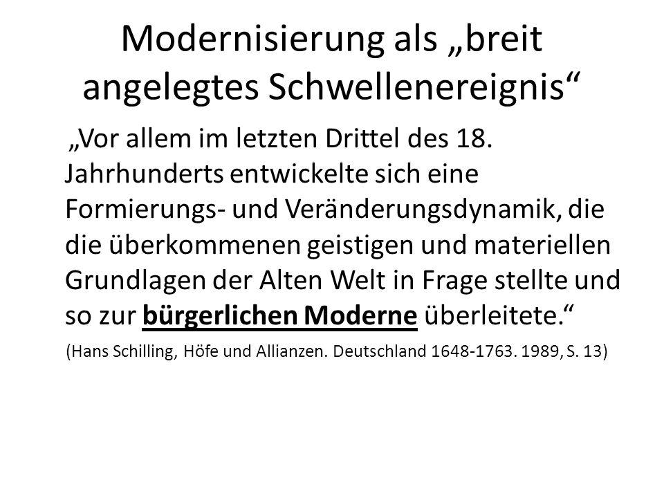 """Modernisierung als """"breit angelegtes Schwellenereignis"""