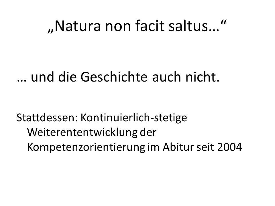 """""""Natura non facit saltus…"""