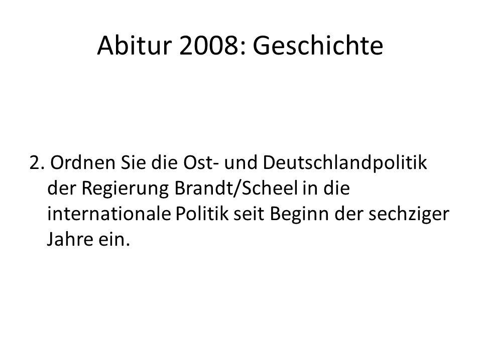 Abitur 2008: Geschichte