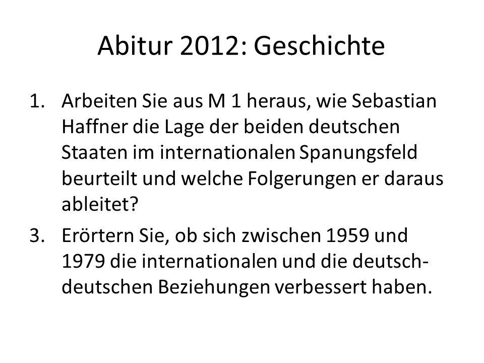 Abitur 2012: Geschichte