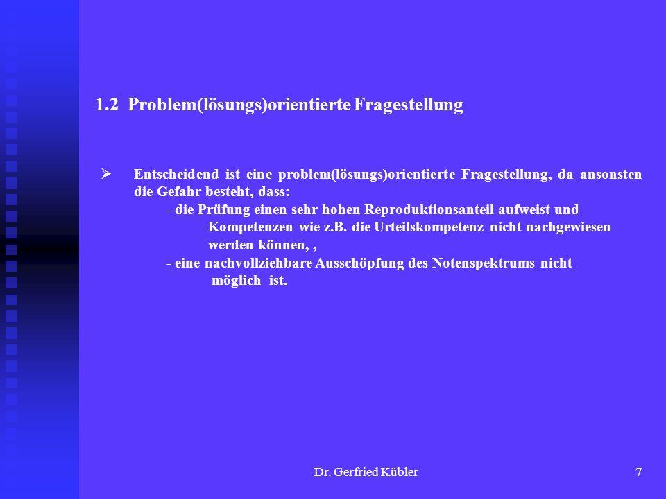 1.2 Problem(lösungs)orientierte Fragestellung