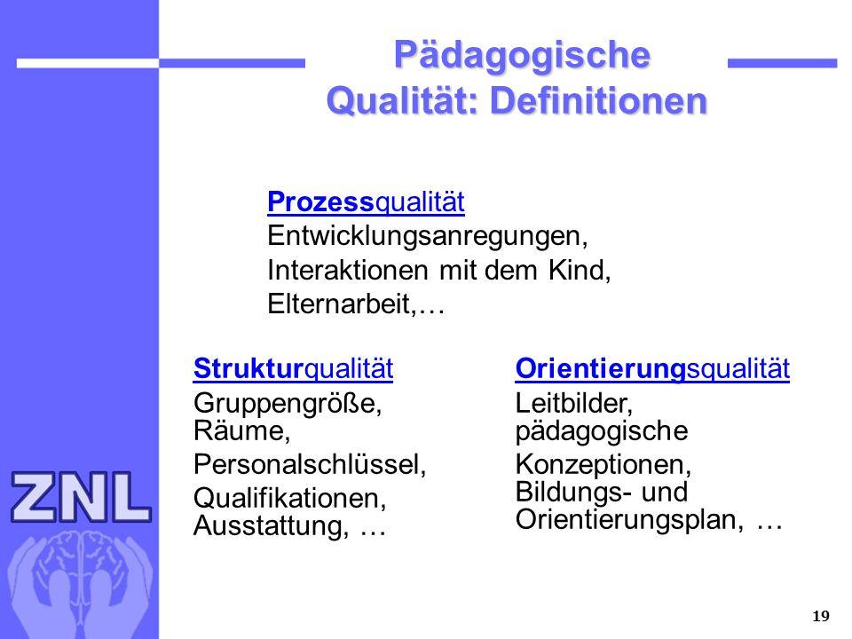 Pädagogische Qualität: Definitionen