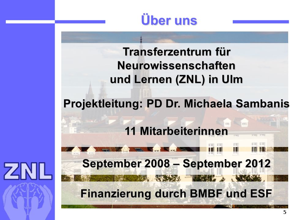 Finanzierung durch BMBF und ESF