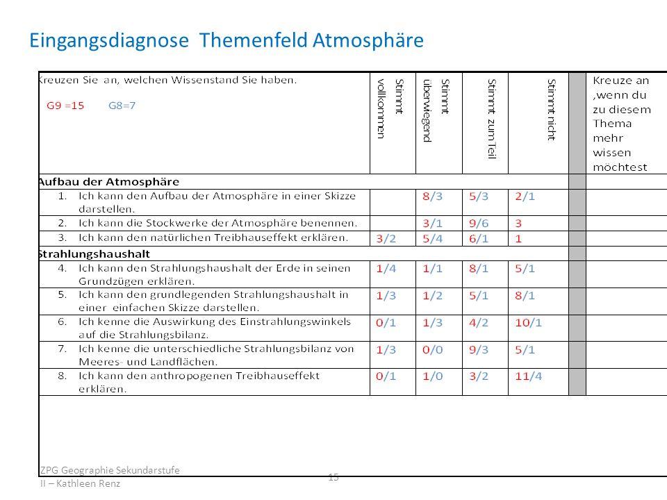 Eingangsdiagnose Themenfeld Atmosphäre