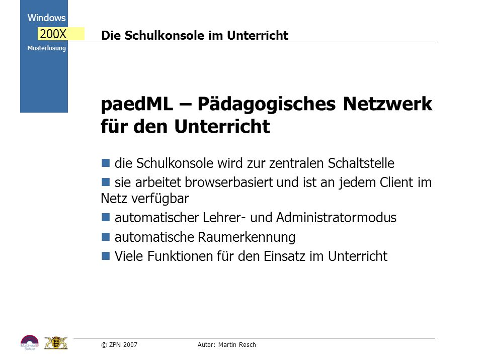 paedML – Pädagogisches Netzwerk für den Unterricht