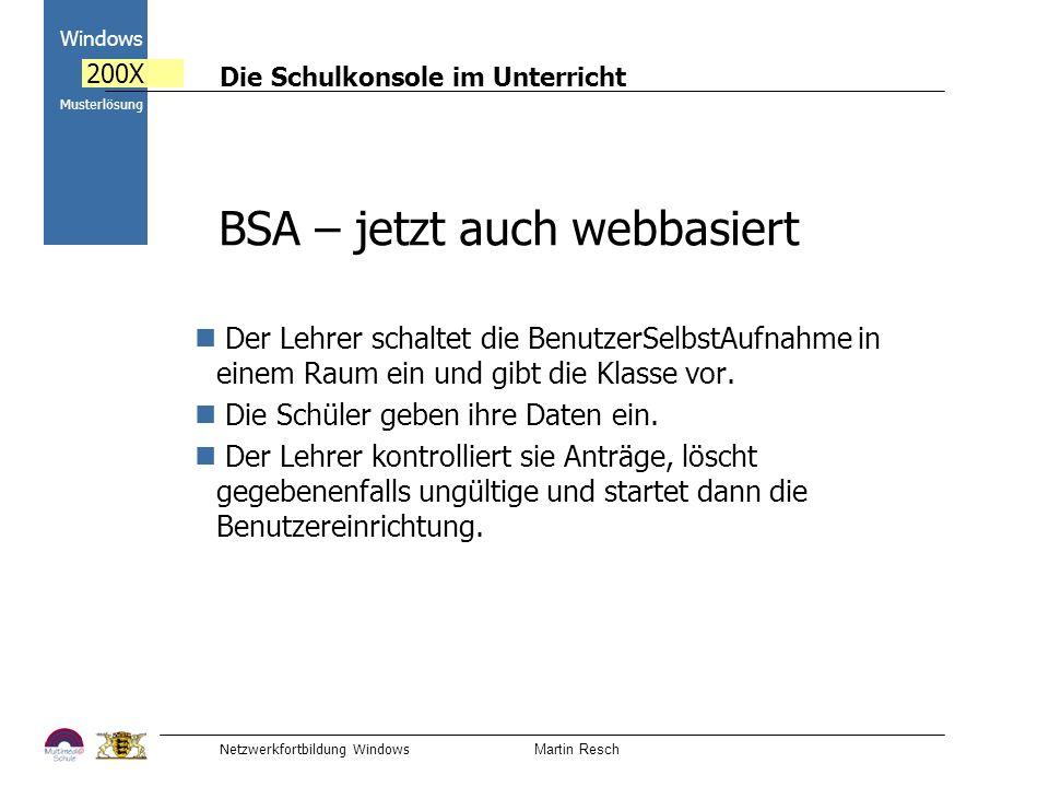 BSA – jetzt auch webbasiert