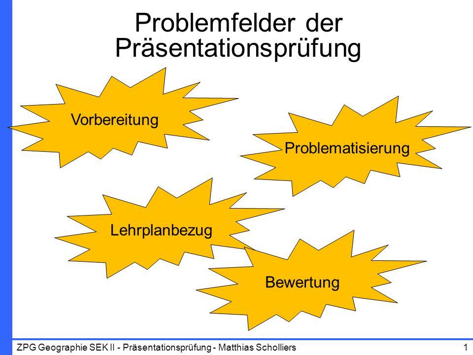 Problemfelder der Präsentationsprüfung