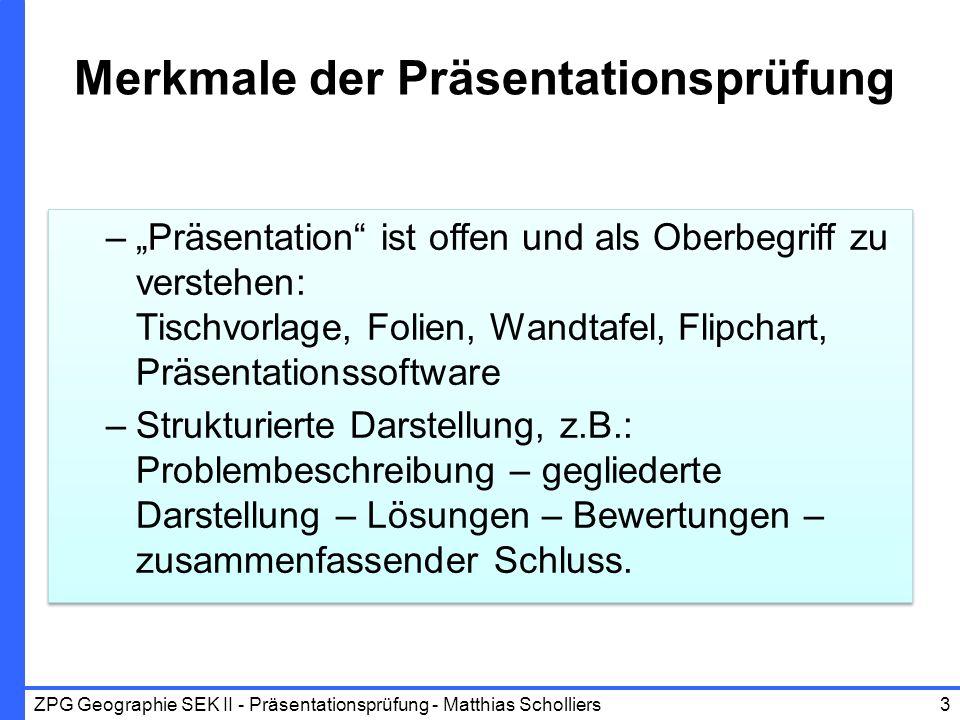 Merkmale der Präsentationsprüfung