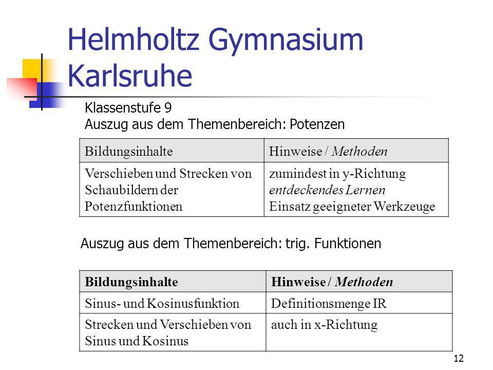 Helmholtz Gymnasium Karlsruhe