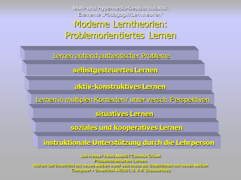 Moderne Lerntheorien: Problemorientiertes Lernen
