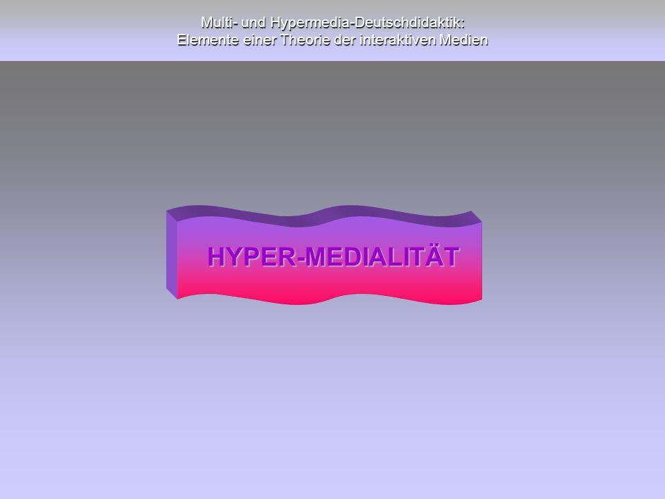 Multi- und Hypermedia-Deutschdidaktik: Elemente einer Theorie der interaktiven Medien