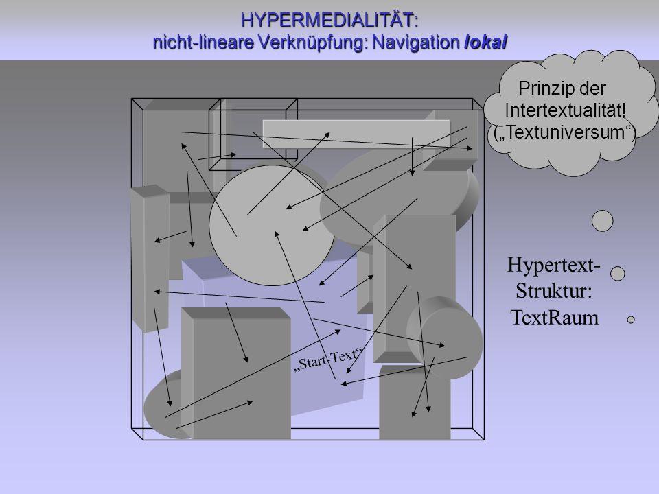 HYPERMEDIALITÄT: nicht-lineare Verknüpfung: Navigation lokal