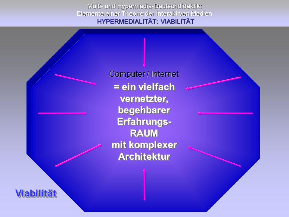 = ein vielfach vernetzter, begehbarer Erfahrungs- RAUM mit komplexer