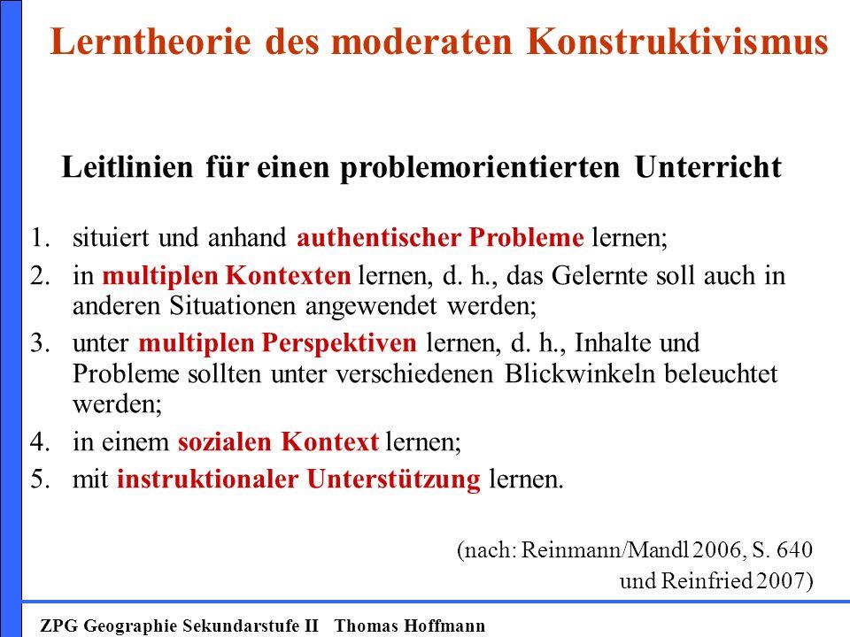 Lerntheorie des moderaten Konstruktivismus