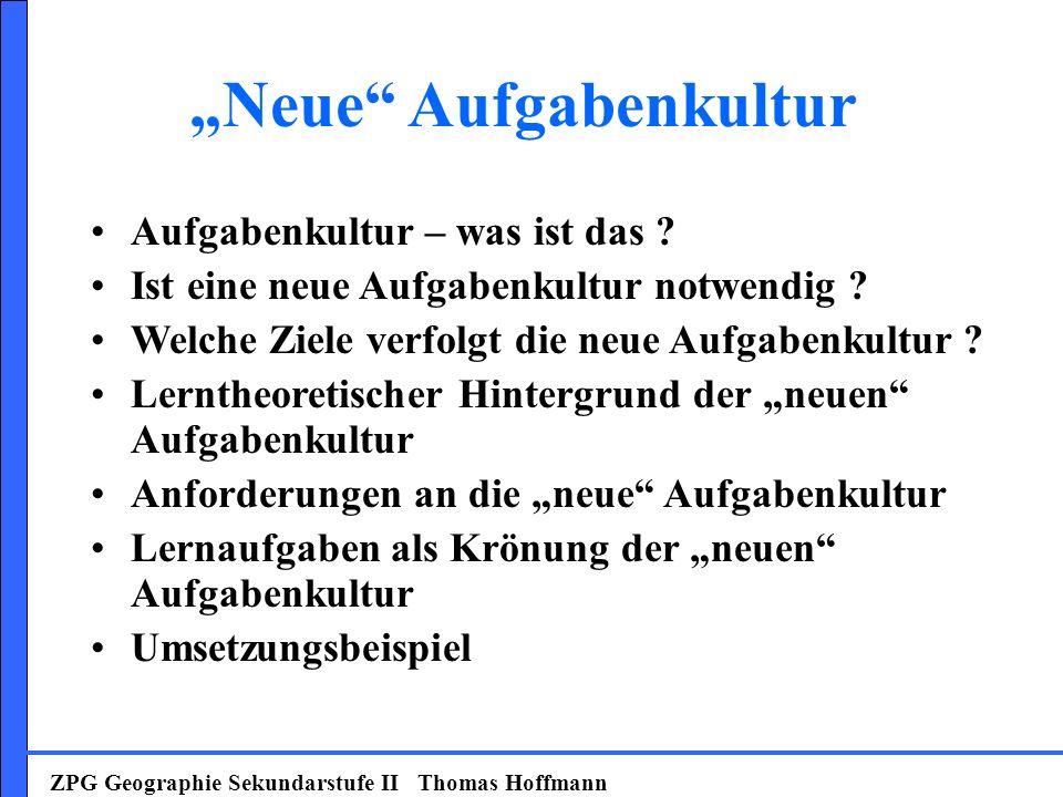 """Neue Aufgabenkultur"