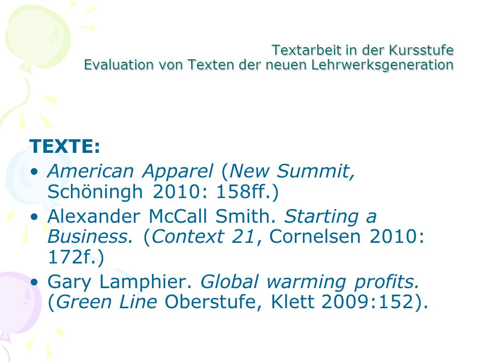 American Apparel (New Summit, Schöningh 2010: 158ff.)
