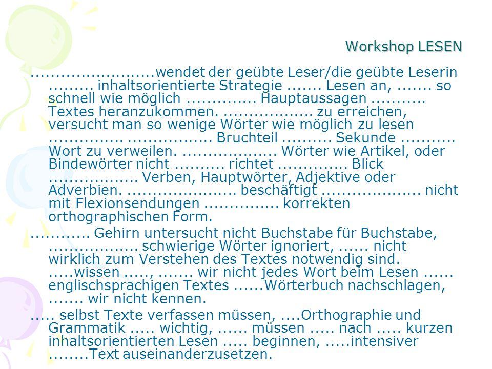 Workshop LESEN
