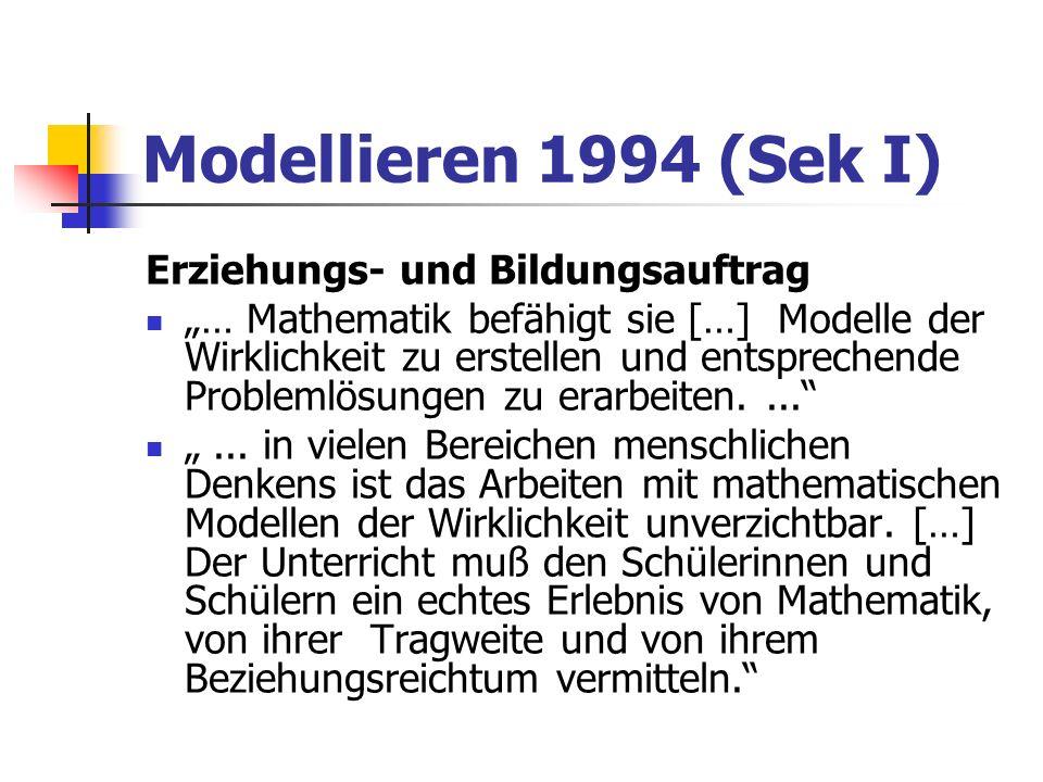 Modellieren 1994 (Sek I) Erziehungs- und Bildungsauftrag