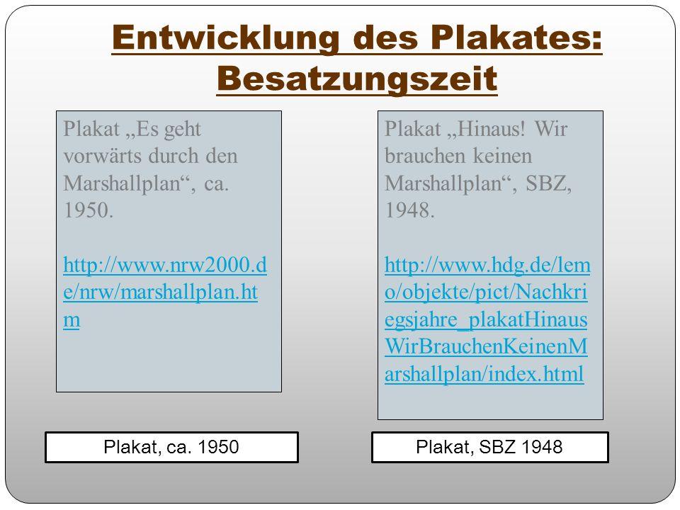 Entwicklung des Plakates: Besatzungszeit