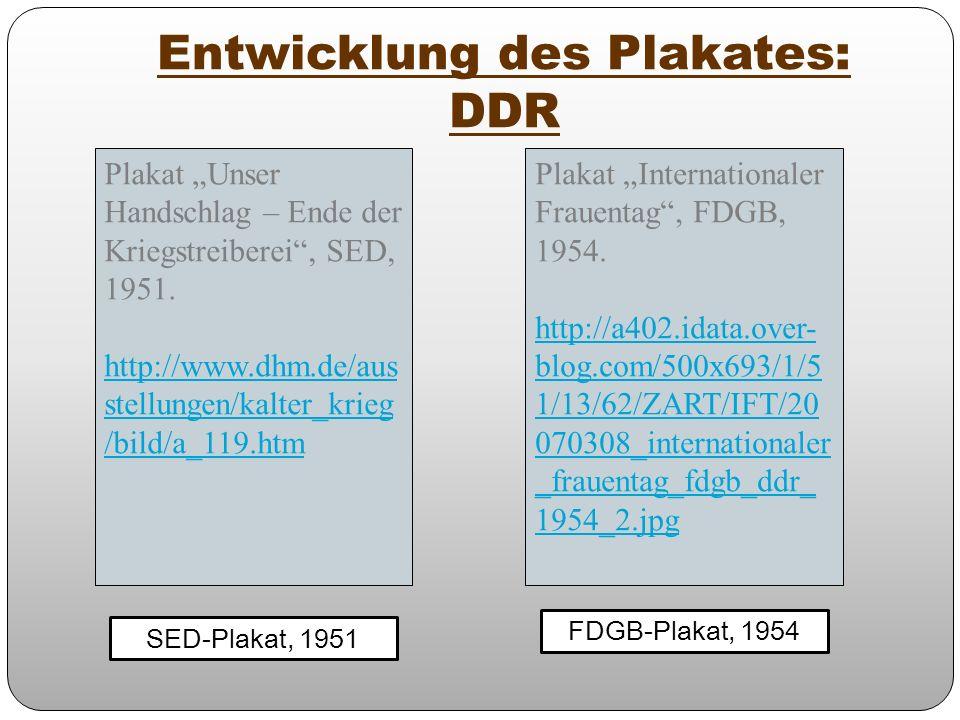 Entwicklung des Plakates: DDR