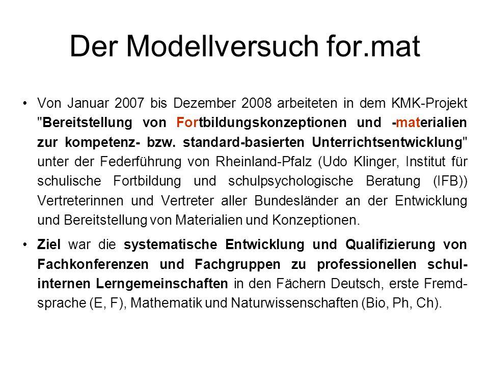 Der Modellversuch for.mat