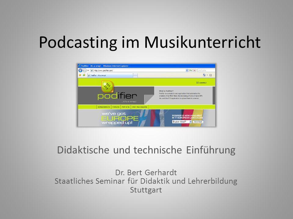 Podcasting im Musikunterricht
