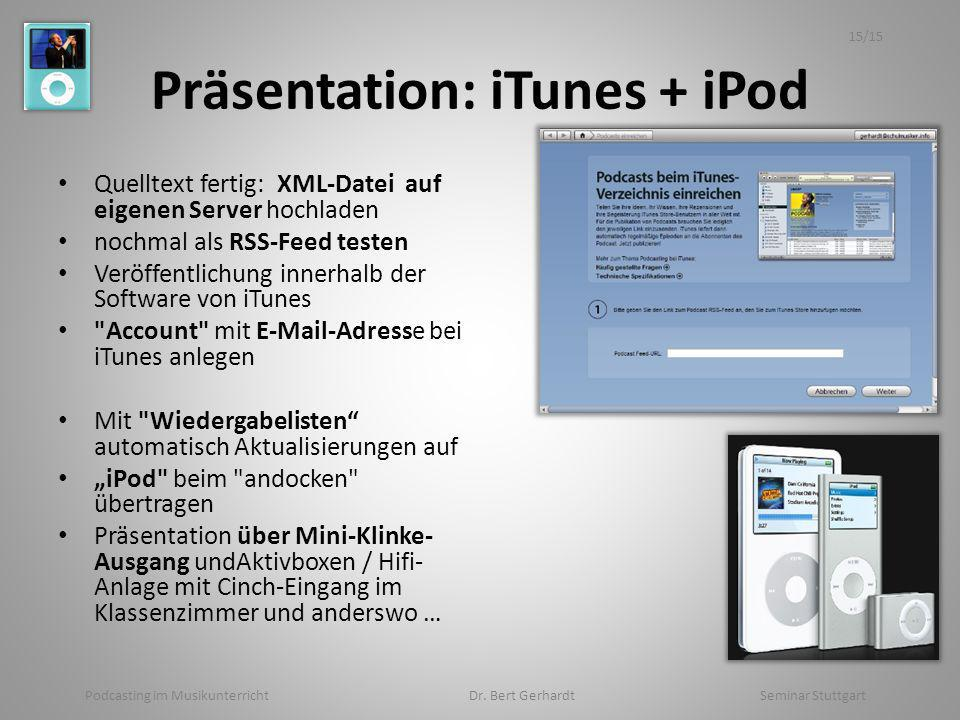 Präsentation: iTunes + iPod